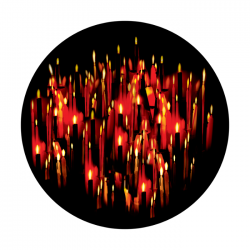 Apollo ColourScenic Glass Gobo 0173 Flickering Candles