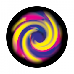 Apollo ColourScenic Glass Gobo 0178 Blurred Swirl