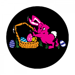 Apollo ColourScenic Glass Gobo 3415 Bunny with Basket