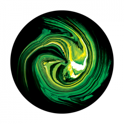 Apollo ColourScenic Glass Gobo 3422 Caterpillar Whirl