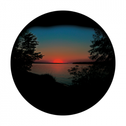 Apollo ColourScenic Glass Gobo 3430 Lakeside Sunset