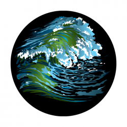 Apollo ColourScenic Glass Gobo 3454 Surf's Up