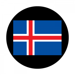 Apollo ColourScenic Glass Gobo 3461 Iceland Flag