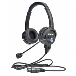 Clear-Com LW Double-Ear Standard Headset XLR-7F w/ Mic