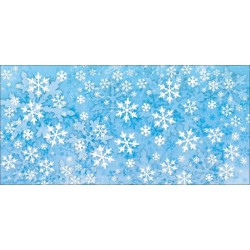 Apollo DesignScape - Icy Blue Snowflakes