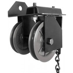 "Black 4"" Double End Pulley"