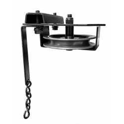 "Black 4"" Single End Pulley"
