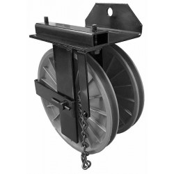 "Black 8"" Double End Pulley"