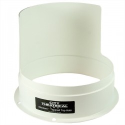 "City Theatrical STACKERS 7 1/2"" HALF TOP HAT WHITE OUTSIDE/BLACK INSIDE"