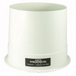 "City Theatrical STACKERS 7 1/2"" FULL TOP HAT WHITE OUTSIDE/BLACK INSIDE"