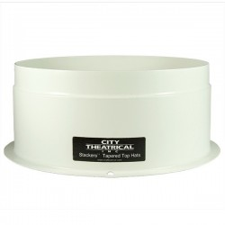 "City Theatrical STACKERS 7 1/2"" SHORT FULL TOP HAT WHITE OUTSIDE/BLACK INSIDE"