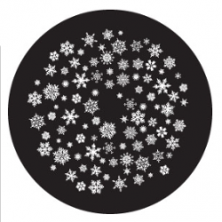 Rosco Glass Gobo - Snowflakes 4 Large - Rotation