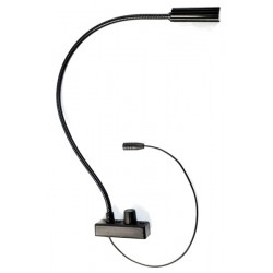 Littlite L-18-LED-BLUE Gooseneck with Bottom Mount Cordset - US Power Supply