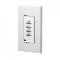 Leviton D42MO-RLW D4200 Remote Station: Max, Raise/Lower, Off, - White