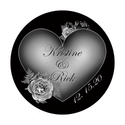 Apollo SuperRes Glass Gobo - Custom Wedding Template G1