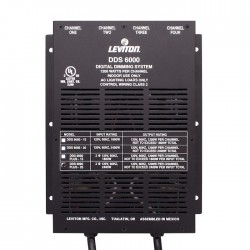 Leviton DDS 6000+ KO 4 Channel Dimmer/Relay System