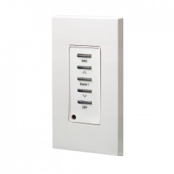 Leviton D4200 Remote Station: Scene 1, Maximum, Raise/Lower, Off, Color: White