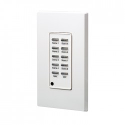 Leviton D4200 Remote Station: Scene 1 thru 8 - Max - Off - Color: White