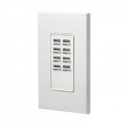 Leviton D4200 Remote Station: Scenes 9 thru 16 - Color: White