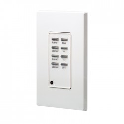 Leviton D4200 Remote Station: Scene 9 thru 16 - Raise - Lower - Color: White