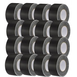 "Rosco GaffTac 3"" Black Gaffer Tape 72mm x 50m - 16 CT."