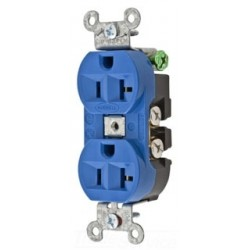 Hubbell Wiring Device 5362BL Receptacle - Blue