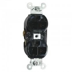 HUBBELL PRO 5-20R DUPLEX RECEPTACLE - BLACK