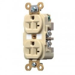 HUBBELL PRO 5-20R DUPLEX RECEPTACLE-IVORY