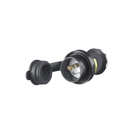 HUBBELL L5-20 PLUG WITH WATERTIGHT SAFETY SHROUD