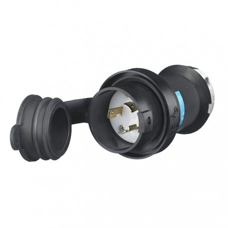 Hubbell L6-20 Plug with Watertight Safety Shroud