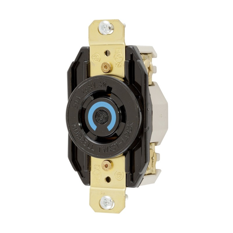 Hubbell L15-20 Single Receptacle