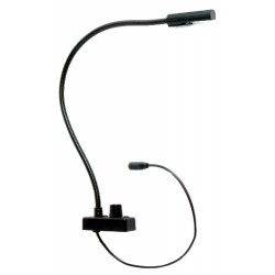 Littlite L-18-LED-3-UV Gooseneck with Bottom Mount Cordset. US Power Supply
