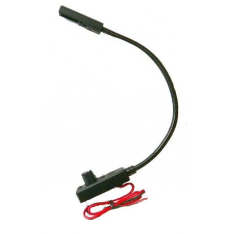Littlite LED-3-UV 18in. End Mount Gooseneck Lamp with Automotive Wiring Kit