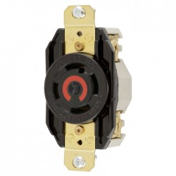 Hubbell L16-30 Single Receptacle
