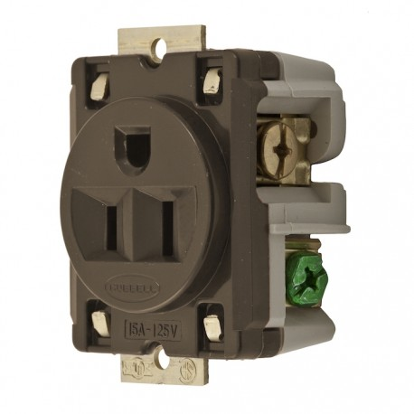 Hubbell 5-15 15 A 125V Single Receptacle