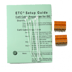 ETC DMX Prep Kit with IDC Connector - Crimp Type (DMXPREP-IDC)