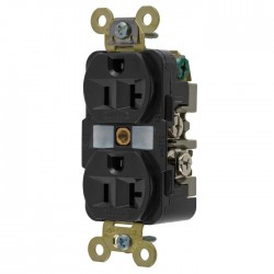Hubbell 20A Duplex Receptacle - Black