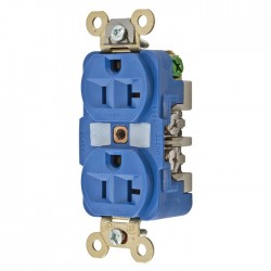 Hubbell 20A 125V Extra Heavy Duty Duplex Receptacle - Blue
