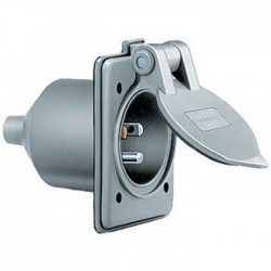Hubbell 5-15 Weatherproof Flanged Inlet