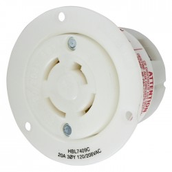 Hubbell 20 AMP - 3 Phase Non-NEMA Flanged Outlet