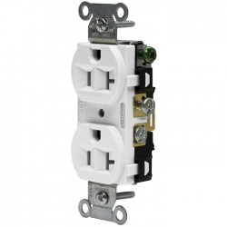 Hubbell 20 AMP Duplex Receptacle - White