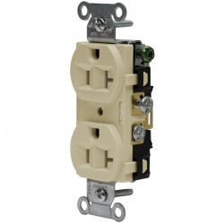 Hubbell 20 AMP Side Wired Duplex