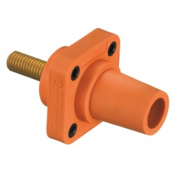Hubbell 400 AMP Female Panel - Stud Type - Orange