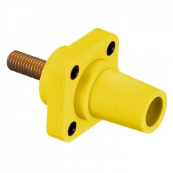 Hubbell 400 AMP Female Panel - Stud Type - Yellow