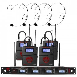 Nady Quad UHF Wireless System with HM-20U Headset