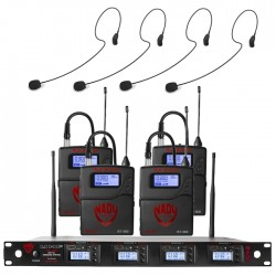 Nady Quad UHF Wireless System with HM-35 Headset