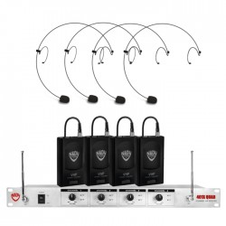 Nady 4-Channel Wireless Microphone System with HM-10 Headset