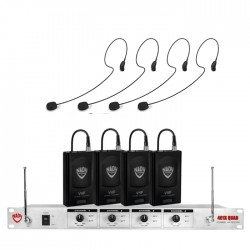 Nady 4-Channel Wireless Microphone System with HM-35 Headset