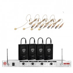 Nady 4-Channel Wireless Microphone System with HM-45U Headset