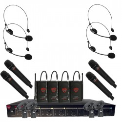 Nady 8-Channel UNF Wireless Handheld and Headset Microphone System